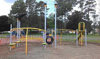 Playground in Payne Park, Bainbridge NY